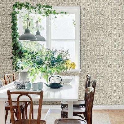 56.4 sq. ft. Sonoma Olive Spanish Tile Wallpaper