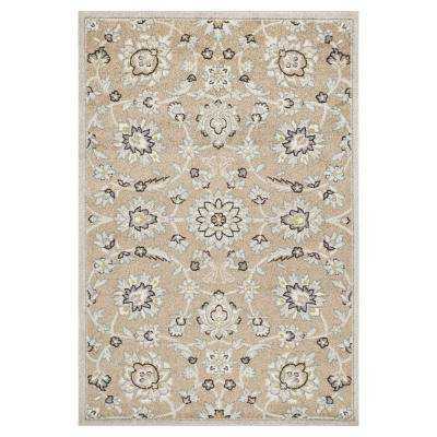 Umbria Beige/Grey 3 ft. 3 in. x 4 ft. 11 in. All-Weather Area Rug