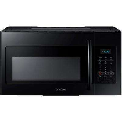 30 in. W 1.7 cu. ft. Over the Range Microwave in Black with Sensor Cooking