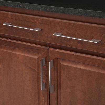 Contemporary 7-1/2 in. (192 mm) Center-to-Center Chrome Cabinet Pull