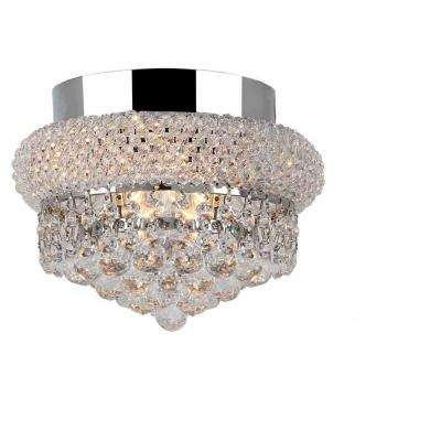 Empire Collection 3-Light Chrome Clear Crystal Ceiling Light
