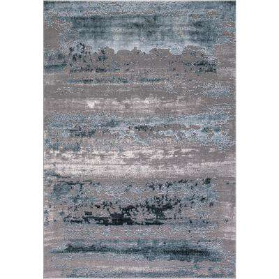 Thema Lakeside Teal 7 ft. 10 in. x 10 ft. 6 in. Area Rug