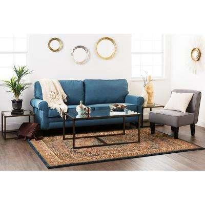 Hase Sapphire 10 ft. x 13 ft. Indoor/Outdoor Area Rug