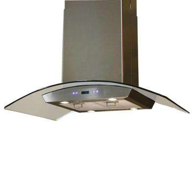 36 in. Island Chimney Range Hood in Stainless Steel