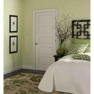 Riverside Smooth 5-Panel Equal Hollow Core Primed Composite Interior Door Slab