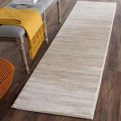 Vision Cream 2 ft. x 12 ft. Runner Rug