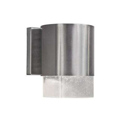 1-Light Brushed Nickel Outdoor Wall Sconce