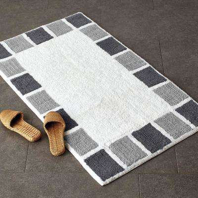 Borderline Cotton Bath Rug