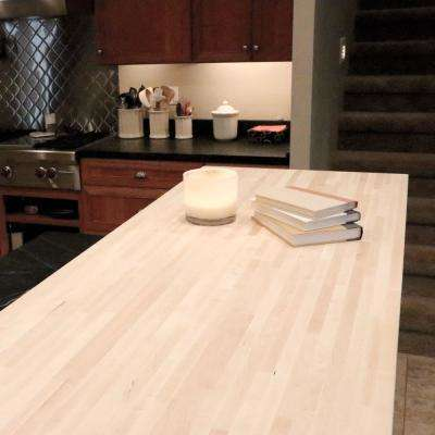 Unfinished Maple 10 ft. L x 25 in. D x 1.5 in. T Butcher Block Countertop