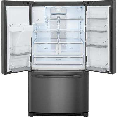 27.2 cu. ft. French Door Refrigerator in Smudge-Proof Black Stainless Steel