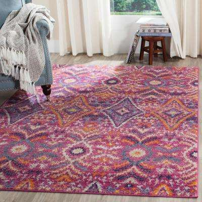 Madison Fuchsia/Multi 3 ft. x 5 ft. Area Rug