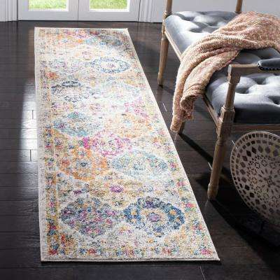 Madison Cream/Multi 2 ft. 3 in. x 18 ft. Runner Rug