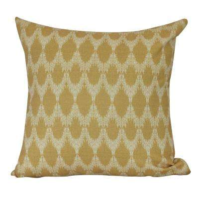 18 in. Peace 2 Geometric Print Decorative Pillow