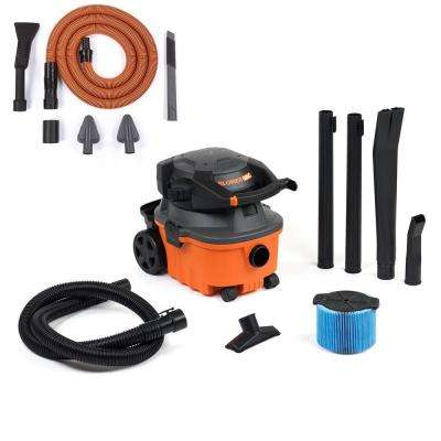 4 gal. 6.0-Peak HP Wet Dry Vac with Detachable Blower and Bonus Auto Detailing Kit