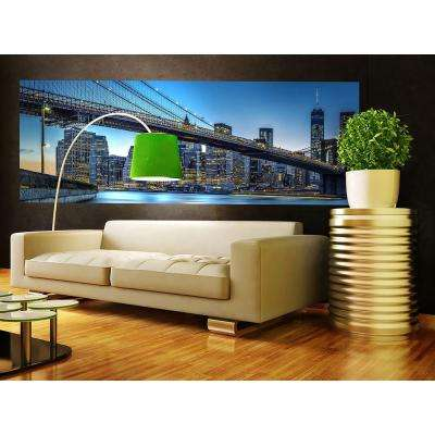 144 in. W x 50 in. H Blue Hour Over New York Wall Mural