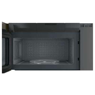Profile 2.1 cu. ft. Over the Range Microwave with Sensor Cooking in Slate, Fingerprint Resistant
