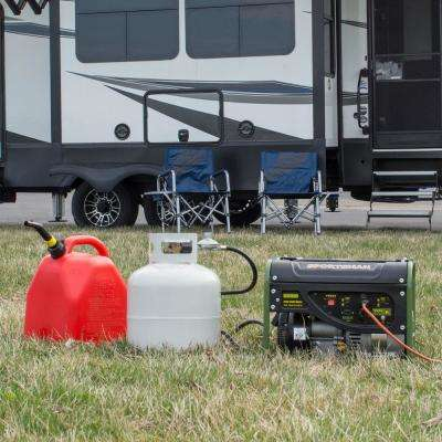 2,000/1,400-Watt Dual Fuel Powered Portable Generator Runs on LPG or Regular Gasoline