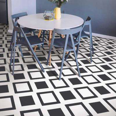 Times Square Black 13.2 ft. Wide x Your Choice Length Residential Vinyl Sheet Flooring