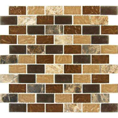 Sonoma Blend 12 in. x 12 in. x 8 mm Glass Stone Mesh-Mounted Mosaic Tile