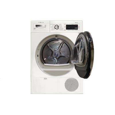800 Series 24 in. 4 cu. ft. White Chrome Accents and Home Connect Electric Condensation Compact Dryer, ENERGY STAR