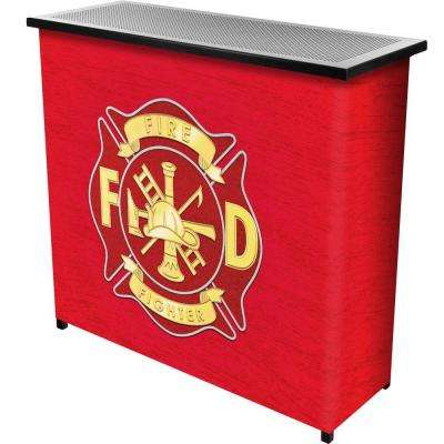 Fire Fighter 39 in. L x 36 in. H 2-Shelf Portable Bar with Carrying Case