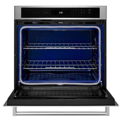 27 in. Single Electric Wall Oven, Self-Cleaning in Stainless Steel