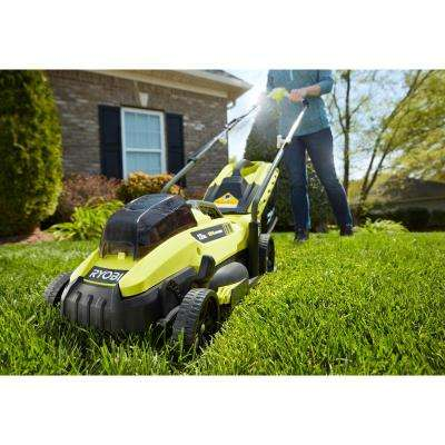 13 in. ONE+ 18-Volt Lithium-Ion Cordless Battery Push Lawn Mower/Leaf Blower Combo Kit 4.0 Ah Battery/Charger Included