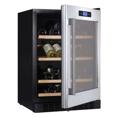 54-Bottle Dual Zone Wine Cooler Built-In with Compressor in Stainless Steel