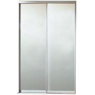 Silhouette Mystique Glass Satin Clear Finish Aluminum Interior Sliding Door