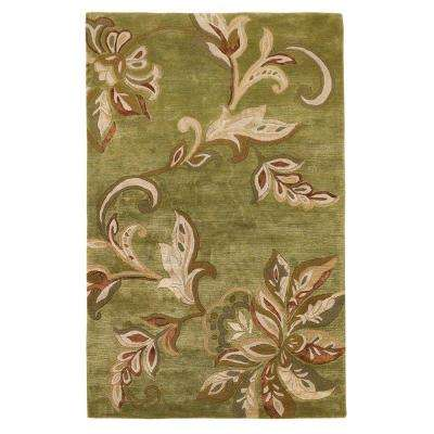 Textured Bouquet Mint 2 ft. 6 in. x 4 ft. 2 in. Area Rug