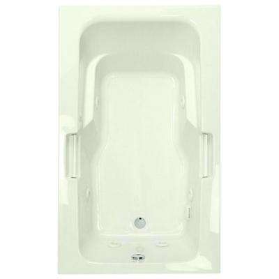 Montrose II 6 ft. Reversible Drain Acrylic Whirlpool Bath Tub in Biscuit