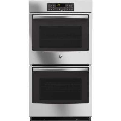 27 in. Double Electric Wall Oven Self-Cleaning with Steam in Stainless Steel