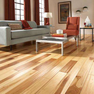 Brushed Hickory Natural Sawn 1/2 in. Thick x 5 in. Wide x Random Length Engineered Hardwood Flooring (39 sq. ft. / case)