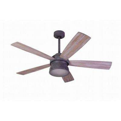 52 in. Indoor/Outdoor Weathered Gray Ceiling Fan