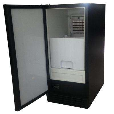 50 lb. Freestanding Economy Ice Maker in Black