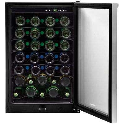 42-Bottle Wine Cooler in Stainless Steel