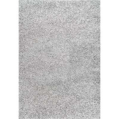 Shag Silver 6 ft. 7 in. x 9 ft. Area Rug