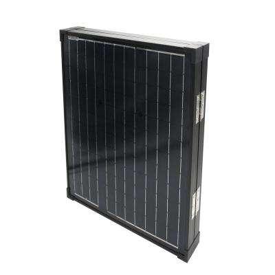 80-Watt Portable Briefcase Design Monocrystalline Silicon Solar Panel