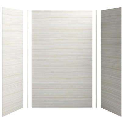 Choreograph 60in. X 32 in. x 96 in. 5-Piece Shower Wall Surround in VeinCut Dune for 96 in. Showers