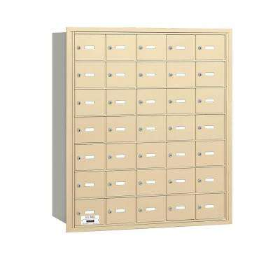 Sandstone USPS Access Rear Loading 4B Plus Horizontal Mailbox with 35A Doors