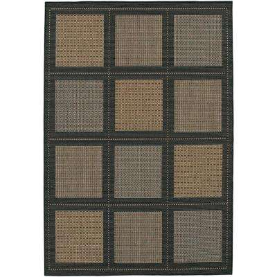 Recife Summit Cocoa Black 3 ft. 9 in. x 5 ft. 5 in. Area Rug
