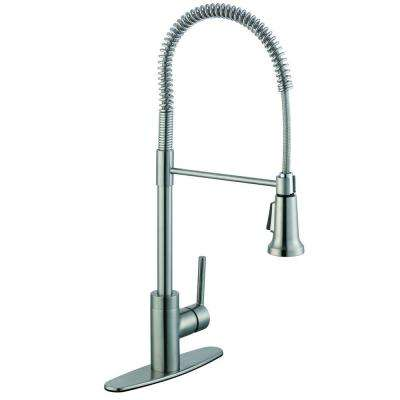 1200 Series Single-Handle Pull-Down Sprayer Kitchen Faucet in Stainless Steel
