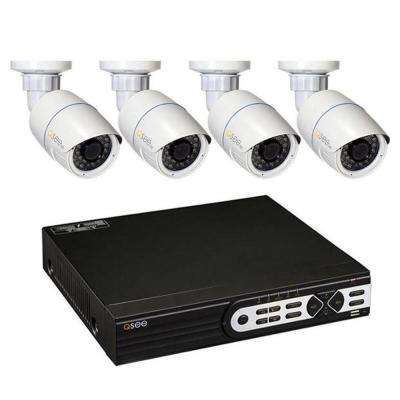 8-Channel 3MP 2TB Full HD IP Surveillance System with (4) 3MP Bullet Cameras