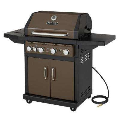 4-Burner Natural Gas Grill in Bronze