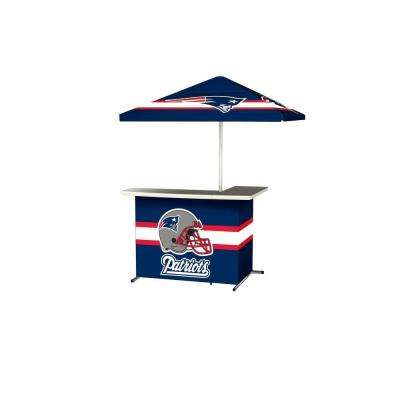 New England Patriots All-Weather L-Shaped Patio Bar with 6 ft. Umbrella