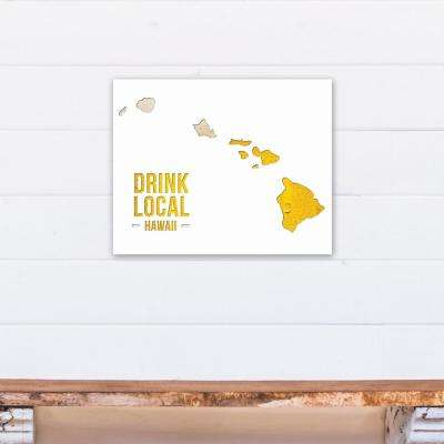 "20 in. x 16 in. ""Hawaii Drink Local Beer Printed Canvas Wall Art"