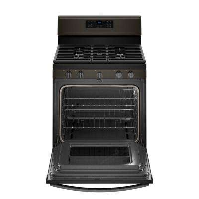 5.0 cu. ft. Gas Range with Self-Cleaning Oven in Fingerprint Resistant Black Stainless