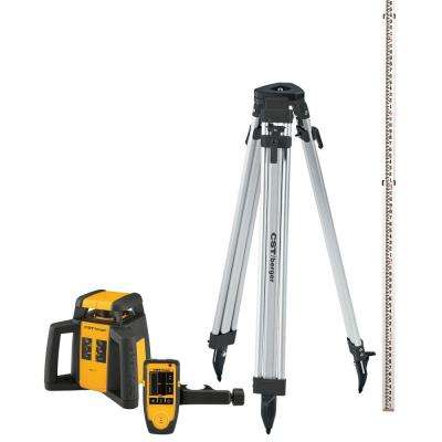2000 ft. Self-Leveling Horizontal Rotating Laser Level Kit (5-Piece)