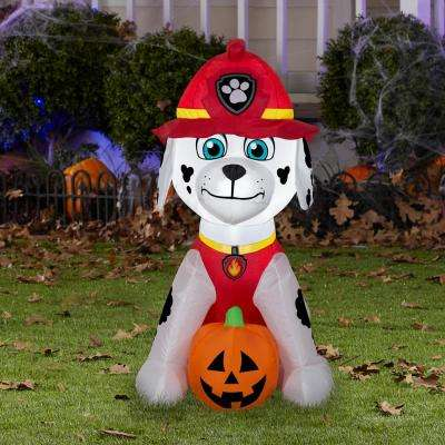 3 ft. Pre-Lit Inflatable Marshall with Jack-O-Lantern Airblown