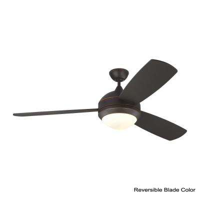 Discus Trio Max 58 in. LED Indoor/Outdoor Roman Bronze Ceiling Fan with Light Kit